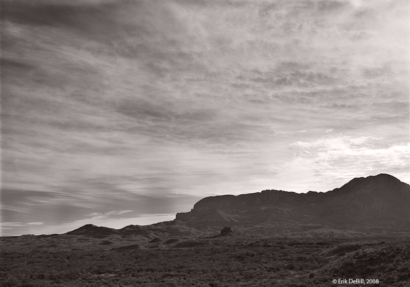 Chisos Mountains in the morning